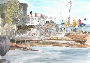 cowes yacht squadron painting unlabelled